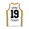 Good Things 2019 Basketball Jersey (White) back