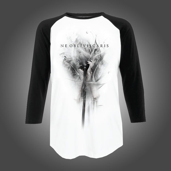 Ne Obliviscaris - Gas Mask Baseball Tee (White / Black)