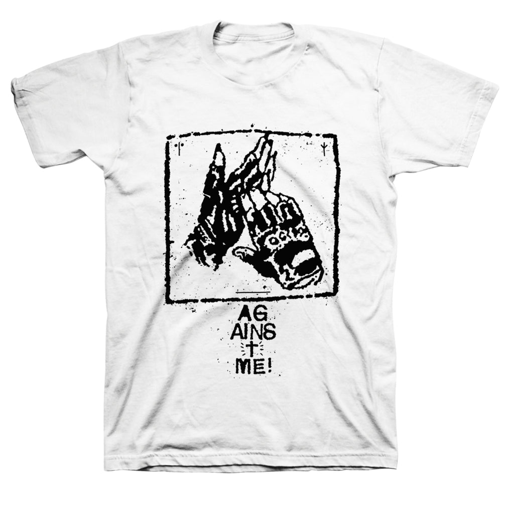 Against Me! Gloves Cult Tee (White)