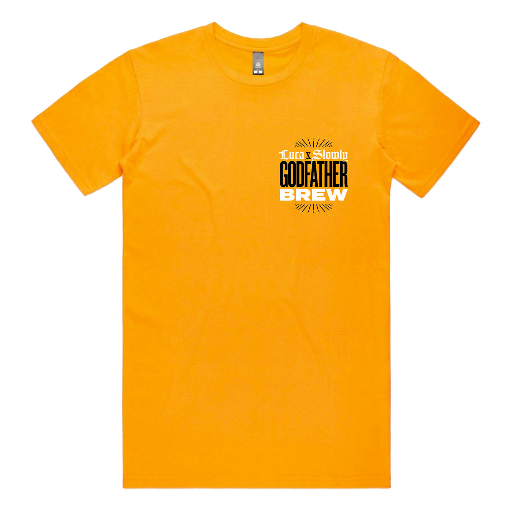 Luca Brasi - Godfather Brew T-shirt (Gold) front