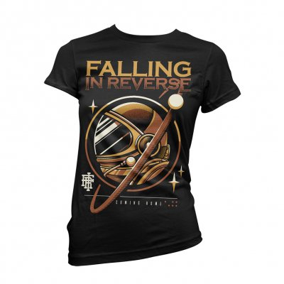 Falling In Reverse - Gold Astro Womens Tee (Black)