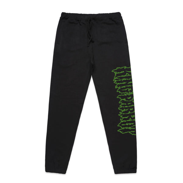 King Parrot - Green Logo Track Pants (Black)