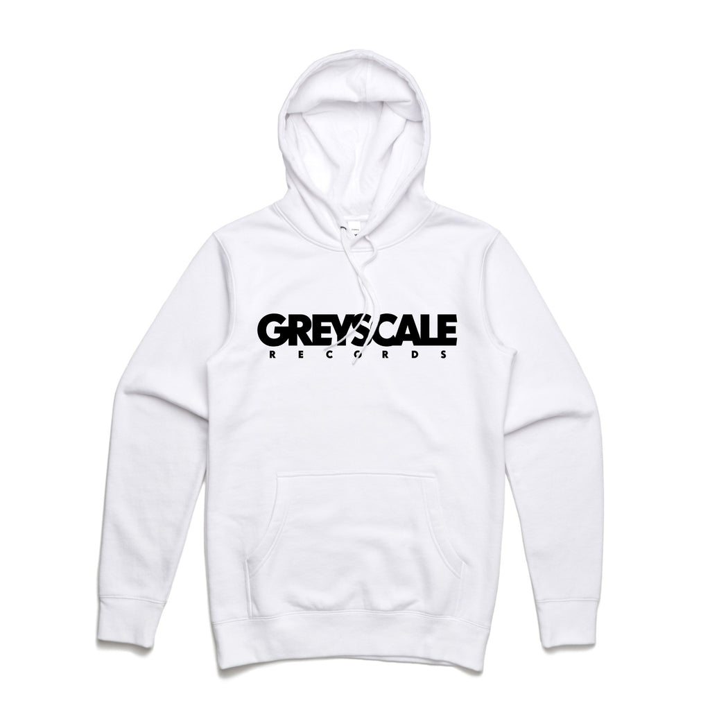 Greyscale Records Hoodie (White)
