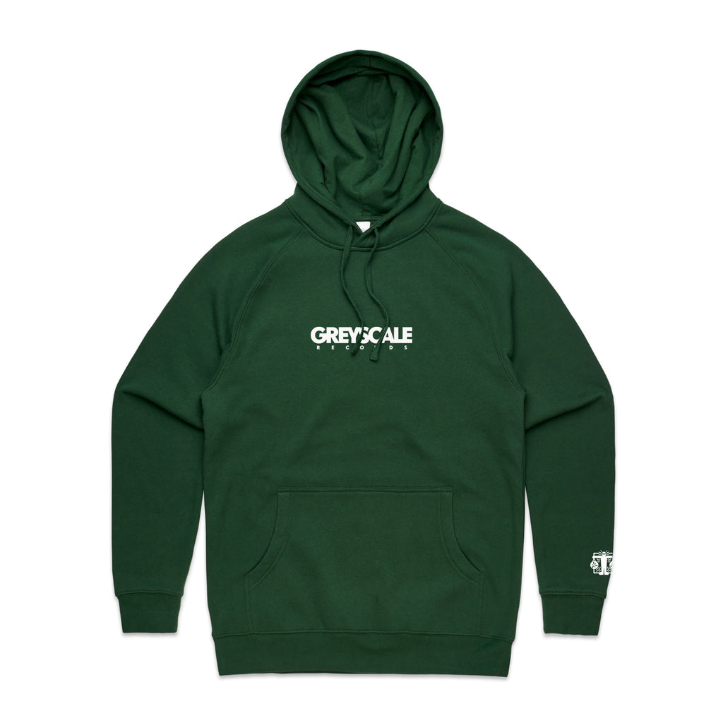 Greyscale Records - Embroidered Logo Pullover Hoodie (Forest Green)