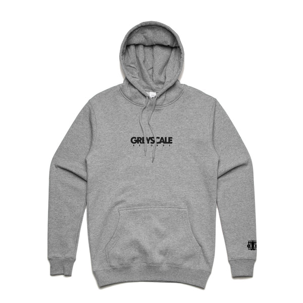 Greyscale Records - Embroidered Logo Pullover Hoodie (Grey)