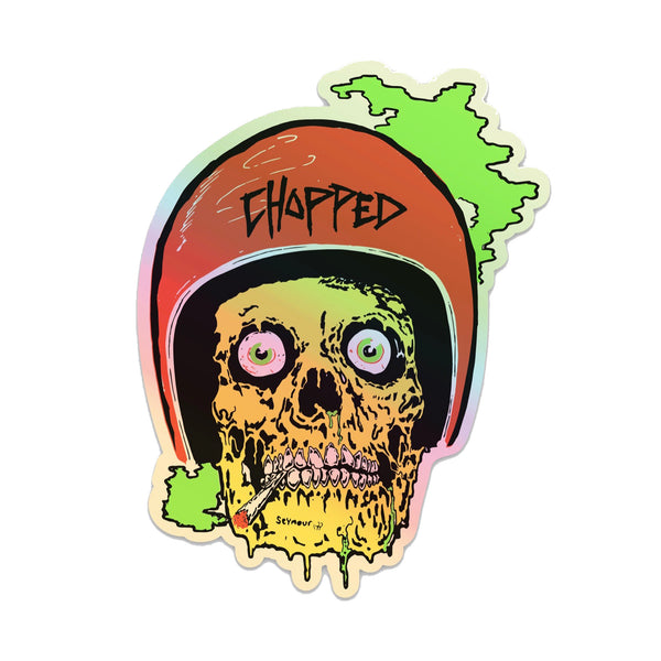 Chopped - Skull Guts Reflective Foil Sticker