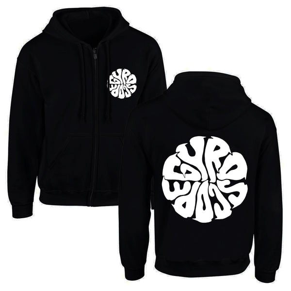 Gyroscope - Liquid Logo Zip-Up Hoodie (Black)