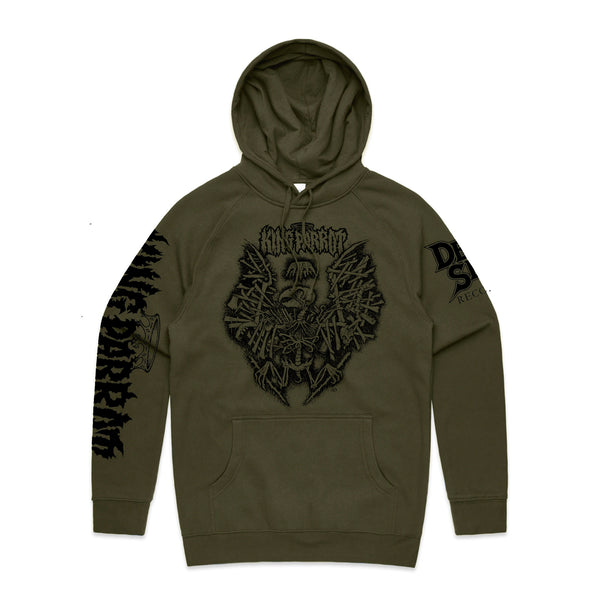 King Parrot - Holed Up in the Lair Hoodie (Army Green) front