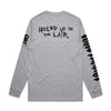 King Parrot - Holed up in the Lair Longsleeve (Grey Marle) back