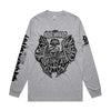 King Parrot - Holed up in the Lair Longsleeve (Grey Marle) front