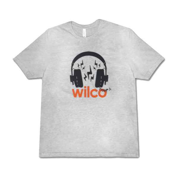 Wilco - Headphones Tee (Heather Grey)