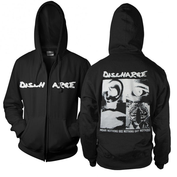 Discharge - Hear Nothing Say Nothing Zip-Up (Black)