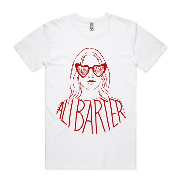 Ali Barter - Heart Sunglasses Tee (White)