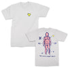 The Smith Street Band - Heart Tee (White) Front & Back