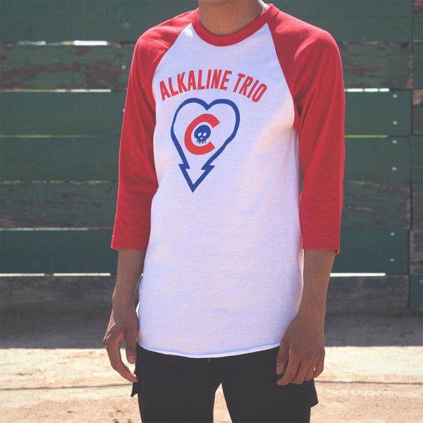 Alkaline Trio - Heartskull Cubs Raglan Red 2