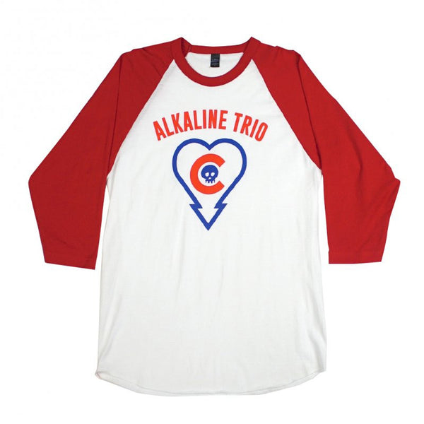 Alkaline Trio - Heartskull Cubs Raglan Red