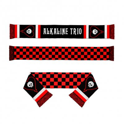 Alkaline Trio - Heartskull Checker Scarf