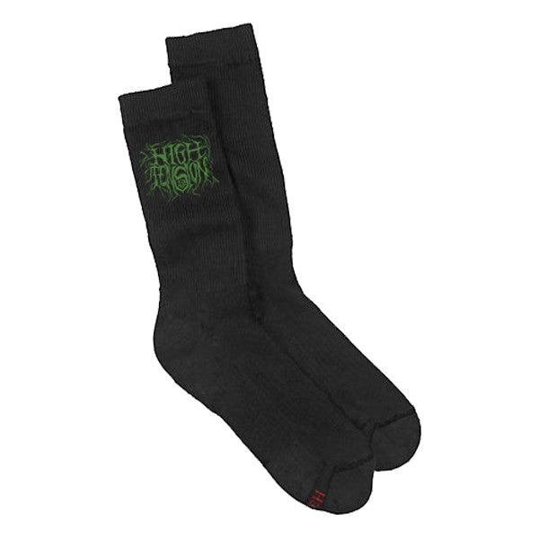 High Tension Metal Logo Socks (Green/Black)