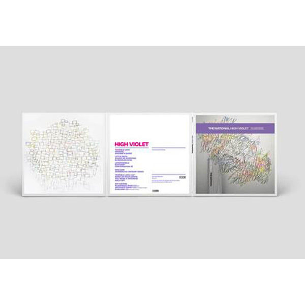 The National - High Violet 10th Anniversary 3LP (White & Purple marble) back cover
