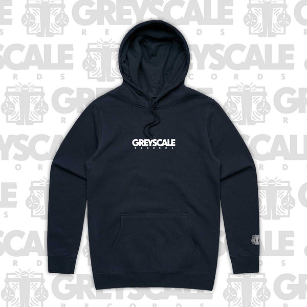 Greyscale Embroidered Pullover Hoodie (Navy)
