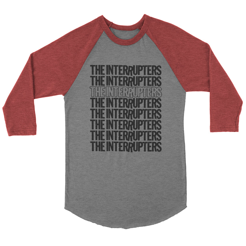 The Interrupters - Repeater Raglan (Heather Grey/Maroon)