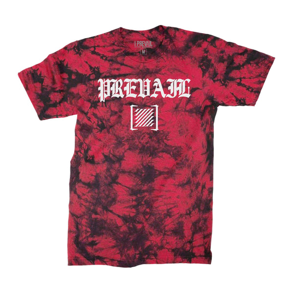 I Prevail - Old English Trauma Acid Wash Tee (Black/Red)