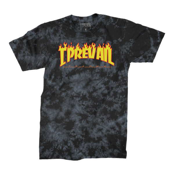 I Prevail - Thrasher Logo Acid Wash Tee (Black/Grey)