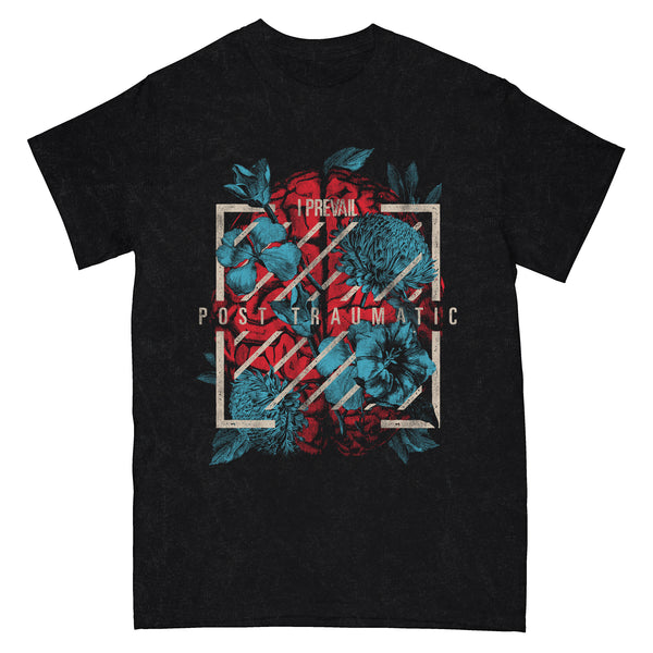 I Prevail - Brain Flowers Tee (Black Mineral Wash)