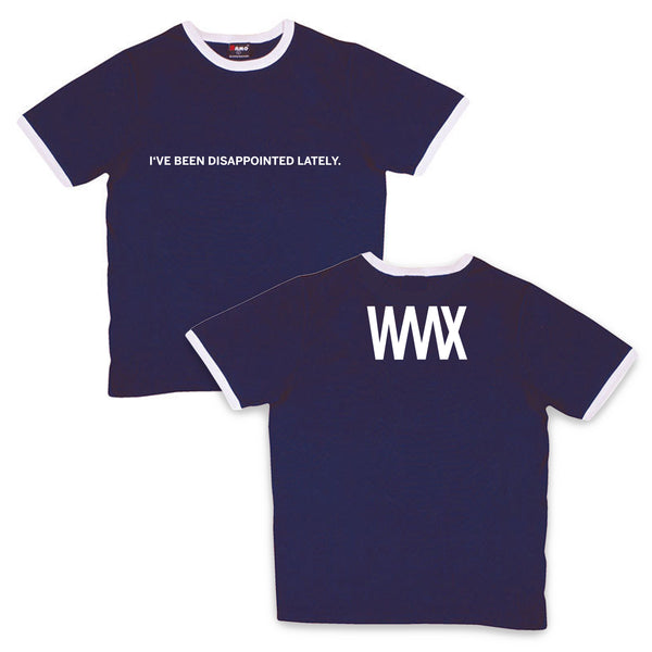 WAAX - I've Been Disappointed Lately Tee (Navy/White)
