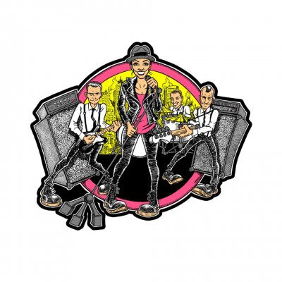The Interrupters - Cartoon Band Enamel Pin