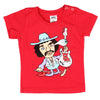 M Is For Metal Jimi Kids T-shirt (Red)