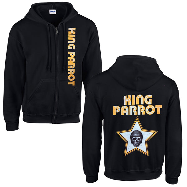 King Parrot - Numb Skull Zip Up Hoodie (Black)