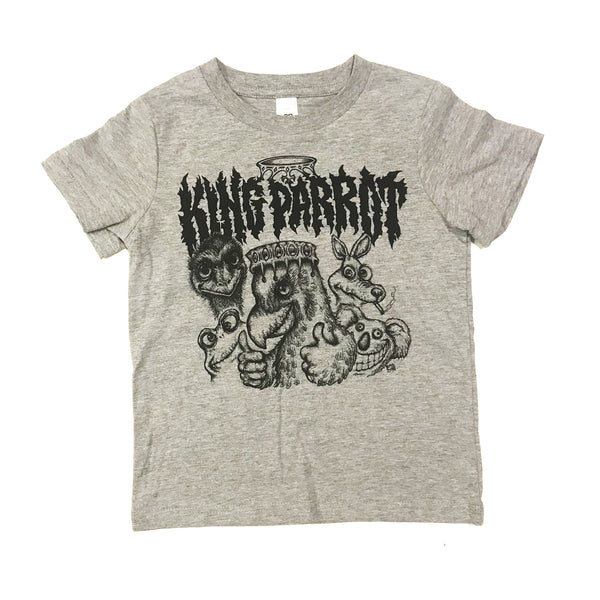 King Parrot - Kids Tee (Grey)