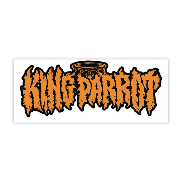 King Parrot - Logo Sticker (Large)