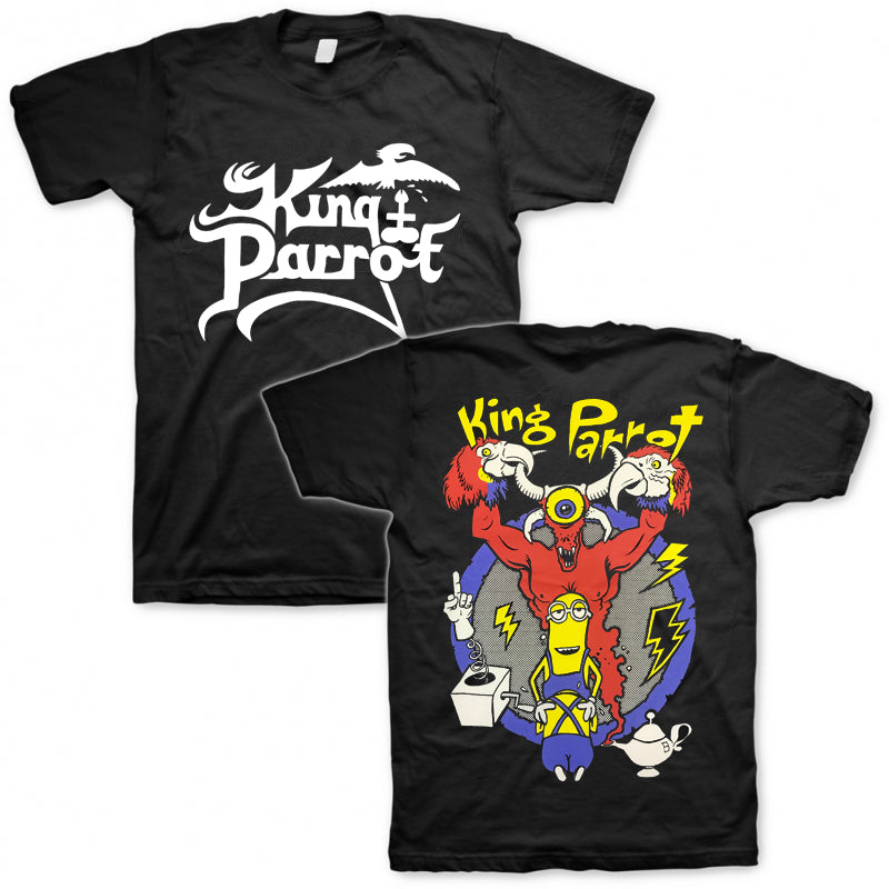 King Parrot - King Puppet T-shirt (Black)