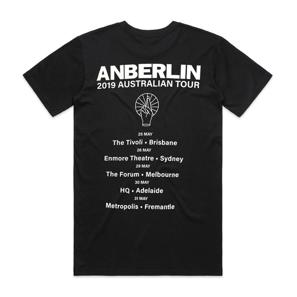 Anberlin - Knockout Tee (Black) Australian Tour Edition