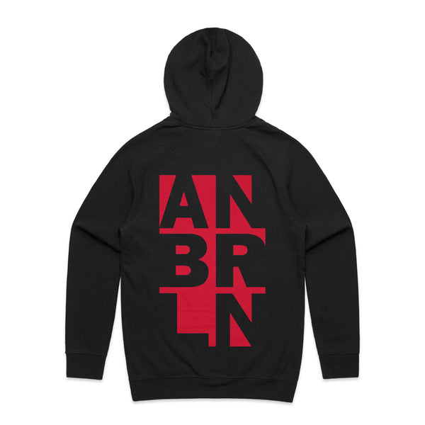 Anberlin - Knockout Hoodie (Black) back