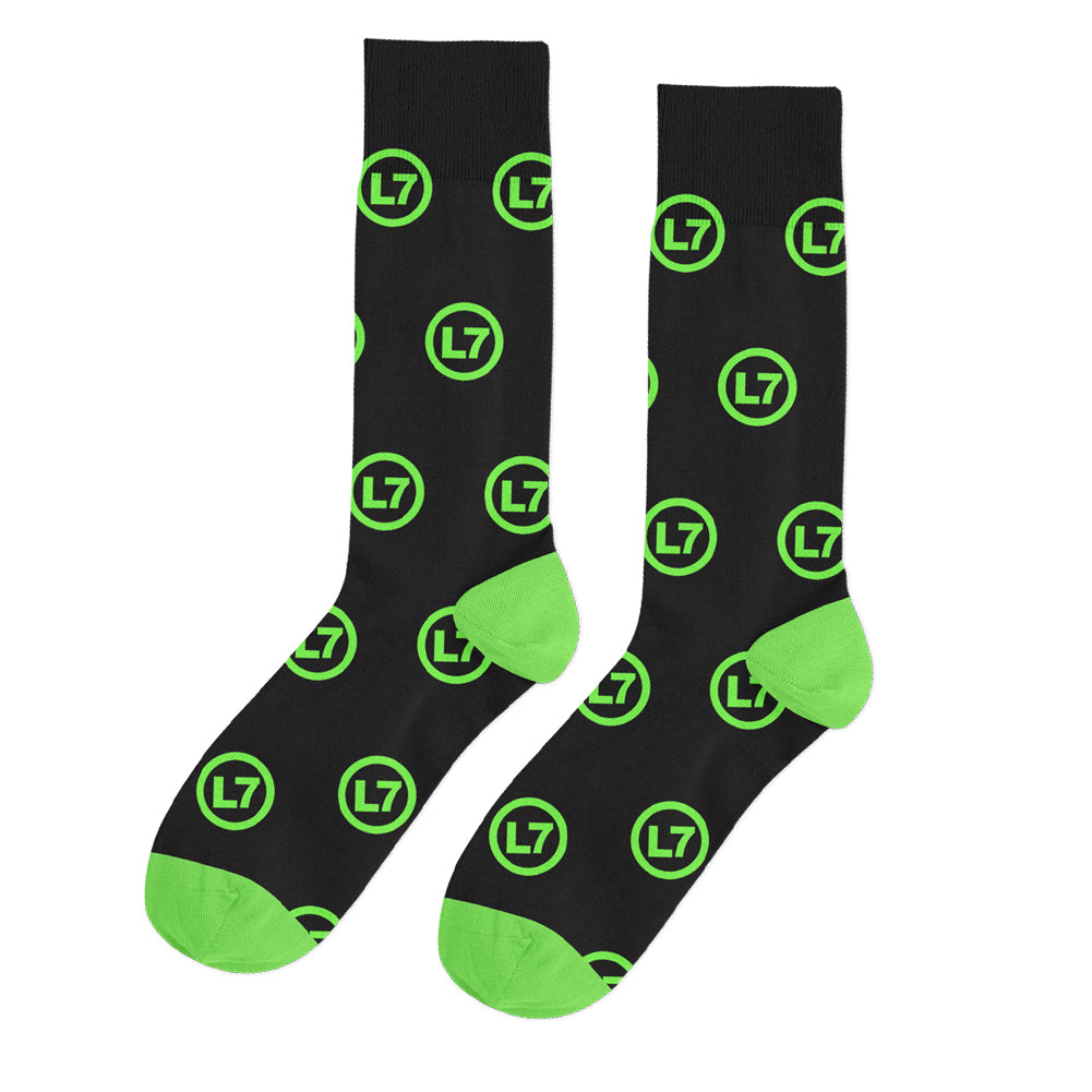 L7 - Logo Socks (Black/Green)