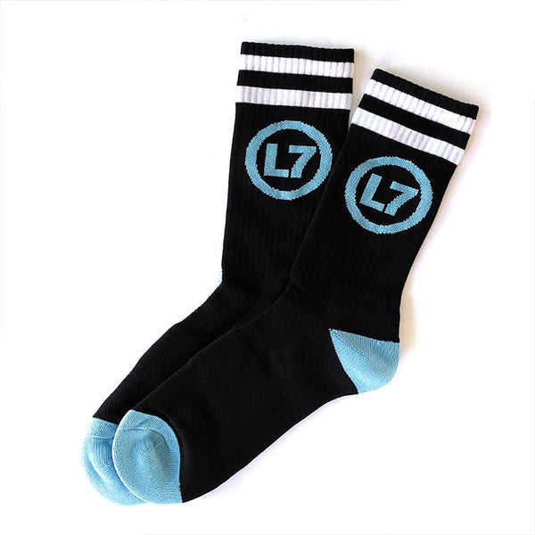 L7 - Logo Socks (Black/Blue)