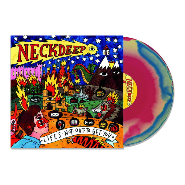 Neck Deep - Life's Not Out To Get You LP (Pink/Blue/Yellow)