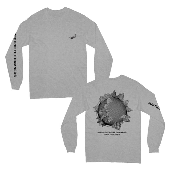 Justice For The Damned - Pain Is Power Longsleeve