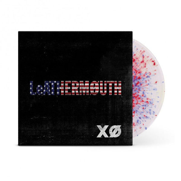 Leathermouth - XO LP (Opaque White w/ Red & Blue Swirl)