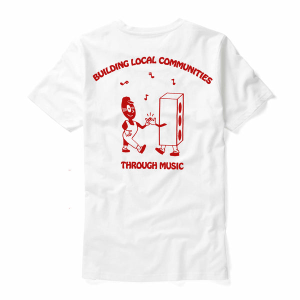 Bedroom Suck Records - Lend A Local A Hand Tee (White)