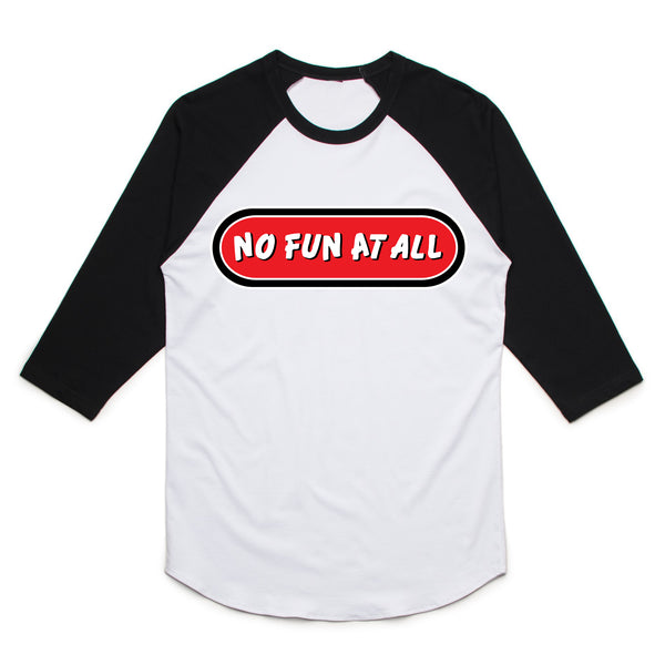 No Fun At All - Logo Baseball Tee (Black/White)