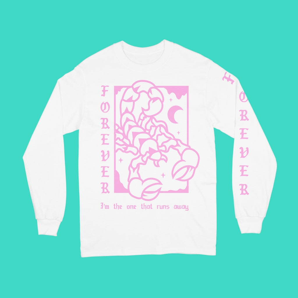 Forever Came Calling - Scorpion Longsleeve (White)