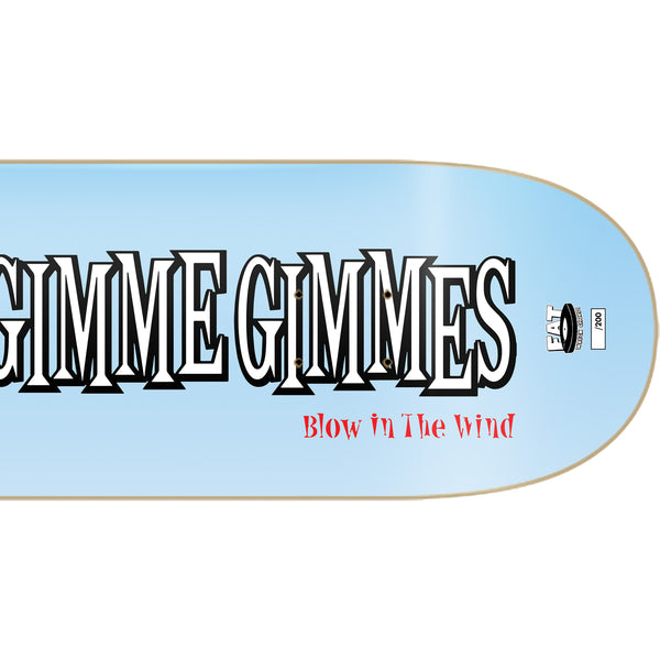 Me First and the Gimme Gimmes - Blow In the Wind Skate Deck (Limited Edition) Right half