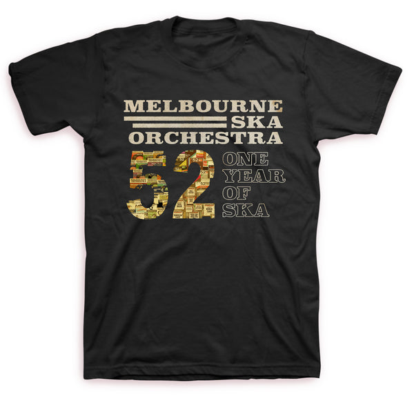 Melbourne Ska Orchestra - One Year of Ska Tee (Black)