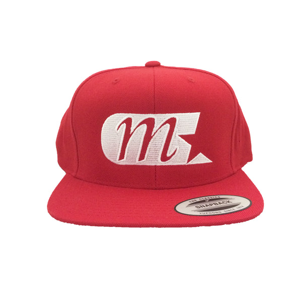 M Star Classic Snapback Hat (Red)