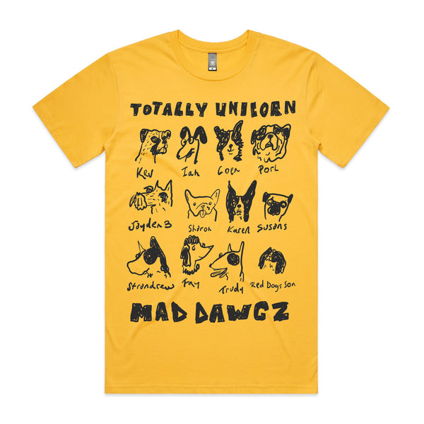 Totally Unicorn - Mad Dawgz Tee (Yellow)