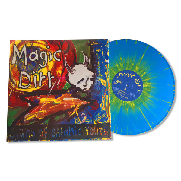 Magic Dirt - Signs of Satanic Youth LP (Blue w/ Yellow Splatter)